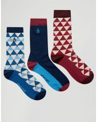80d3f29993321 Norse Projects Bjarki Mixed Stitch Socks in Pink for Men - Lyst