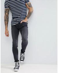 Lee Jeans - Malone Power Stretch Black Worn Super Skinny Jean - Lyst
