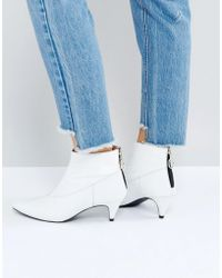 Gestuz - White Patent Boots - Lyst