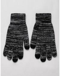 ASOS - Touchscreen Gloves In Black Twist - Lyst