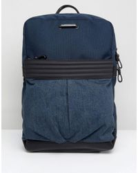 DIESEL - Denim Backpack - Lyst