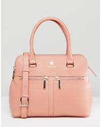 Modalu - Leather Pippa Tote Bag - Pink - Lyst