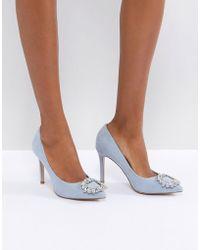 Miss Kg - Square Jewel Trim Point High Heels - Lyst