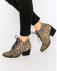 YRU - Aura Lace Up Heeled Ankle Boots - Lyst