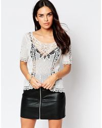 Liquorish - Crochet Top - Lyst