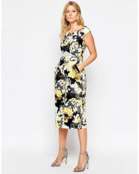 Liquorish - Culotte Jumpsuit With Lace Insert In Floral Print - Lyst