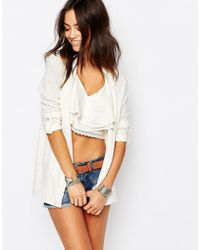 Esprit - Edge To Edge Cardigan - Off White - Lyst