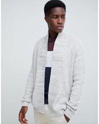 New Look - Cardigan In Grey - Lyst