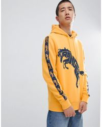 Wrangler - Blue & Yellow Hoodie - Lyst