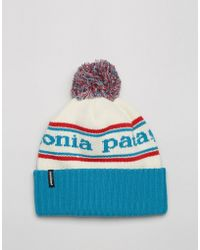 Patagonia - Powder Town Beanie In Blue - Lyst