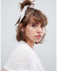 ASOS - Design Scarf Hair Tie - Lyst