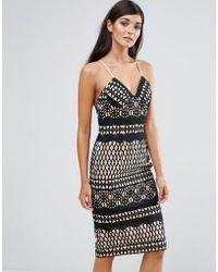 Aijek - Lace Bodycon Dress - Lyst