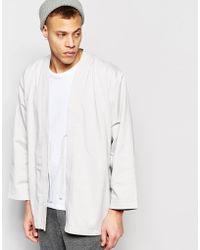 WÅVEN - Kimono Jacket Imma Mink Grey - Lyst
