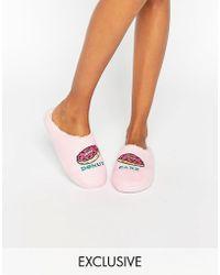 Daisy Street - Donut Slippers - Lyst