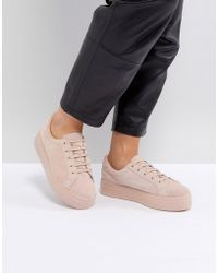 ASOS - Day Light Suede Lace Up Trainers - Lyst