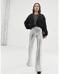 Bershka - Pantalon sequins - Lyst