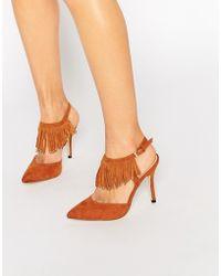 Blink - Tassel Sling Heeled Shoes - Lyst
