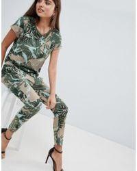 1cba87478af G-Star RAW - Printed Jumpsuit - Lyst