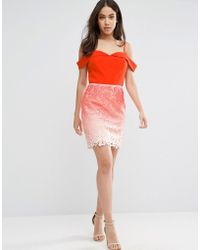 Adelyn Rae - Ombre Lace Skirt Dress - Lyst