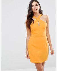 Adelyn Rae - Cross Neck Mini Dress - Lyst