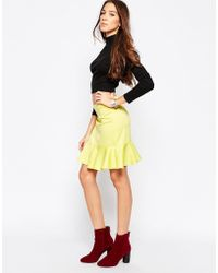 Madam Rage - Flared Hem Mini Skirt - Lyst