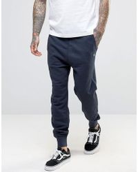 Original Penguin - Cuffed Jogger Slim Fit Small Logo In Navy - Lyst