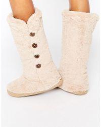 Bedroom Athletics - Grace Knee Length Slipper Boot - Lyst