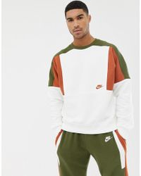 Nike - Re-issue Sweat In White Aq2061-133 - Lyst