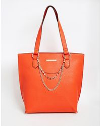 Little Mistress - Large Tote Bag With Chain - Lyst