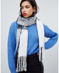 French Connection - Large Check Scarf - Lyst
