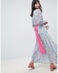 UNIQUE21 - Unique 21 Floral Dress With Pink Belt - Lyst