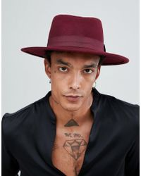 cf8b1a64b41 Lyst - Asos Wide Brim Pork Pie With Eyelets in Brown for Men