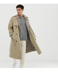 Noak Trench-coat avec doublure à carreaux - Taupe
