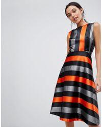 Traffic People - Midi Stripe Dress - Lyst