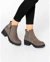 Blink - Chunky Zip Ankle Boots - Lyst