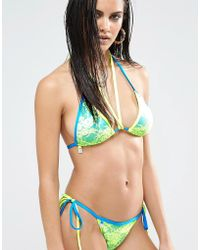 Quontum - Lace Triangle Bikini Top - Lyst