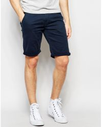 Lindbergh - Chino Shorts In Navy - Lyst