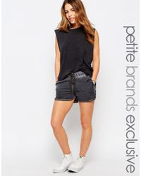 Noisy May Petite - Relaxed Drawstring Shorts - Lyst