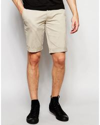 Minimum - Chino Shorts In Stone - Lyst