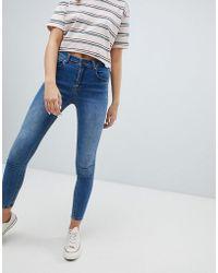 Pull&Bear - Recycled Fibre Skinny Jean In Medium Blue - Lyst
