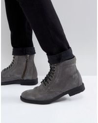 3ccaa45fa89 KG by Kurt Geiger - Kg By Kurt Geiger Military Lace Up Boots Black - Lyst