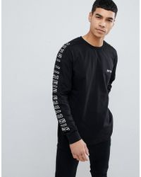New Look - Long Sleeve T-shirt With Print In Black - Lyst