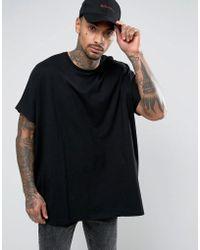 ASOS - Extreme Oversized T-shirt In Black - Lyst