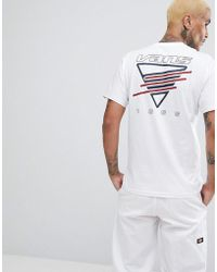 231cc8f405c4f8 Vans - Neon Triangle T-shirt With Back Print In White Va3heywht - Lyst