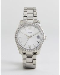 Fossil - Es4317 Scarlette Mini Bracelet Watch In Silver - Lyst