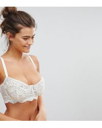 Wolf & Whistle - White Applique B-g Cup Bra - Lyst