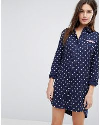 Esprit | Star Print Night Shirt | Lyst