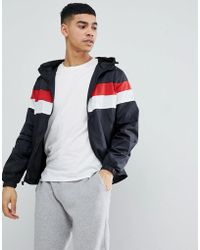 Blend | Hooded Jacket With Stripe Chest | Lyst