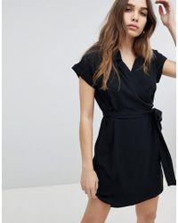 Monki - Short Sleeve Shirt Mini Dress - Lyst