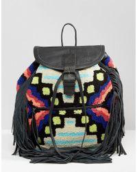 Cleobella - Cornel Carpet & Tassel Backpack - Lyst